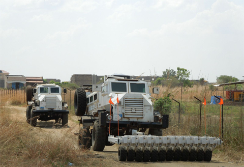 Delivery of 25 Landmine Rollers to the UN