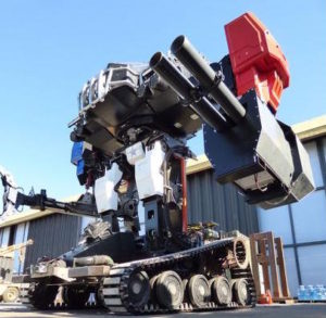 New Equipment Digest Giant Fighting Robot Gets Hri E Stop